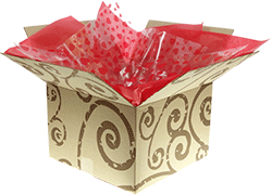 gift box with tissue paper